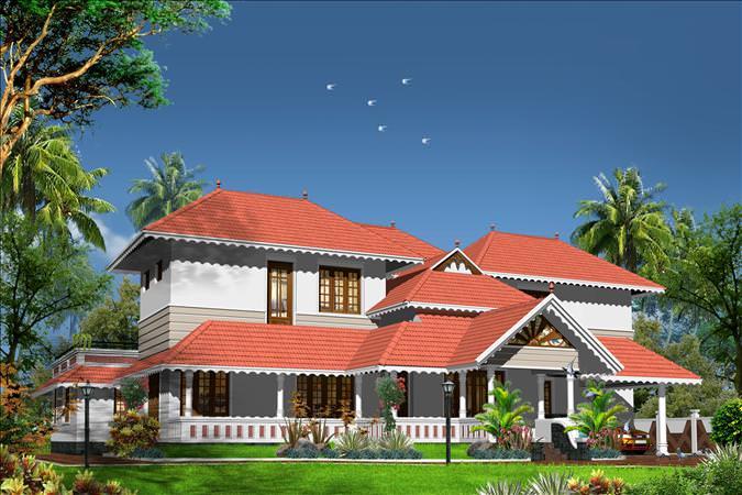 фасад в керальском стиле