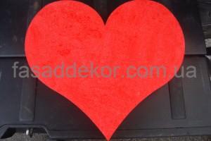 красное сердце из пенопласта - День Валентина