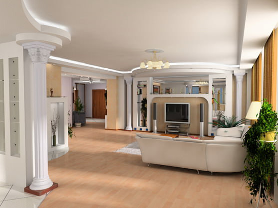 Колонны в гостинной