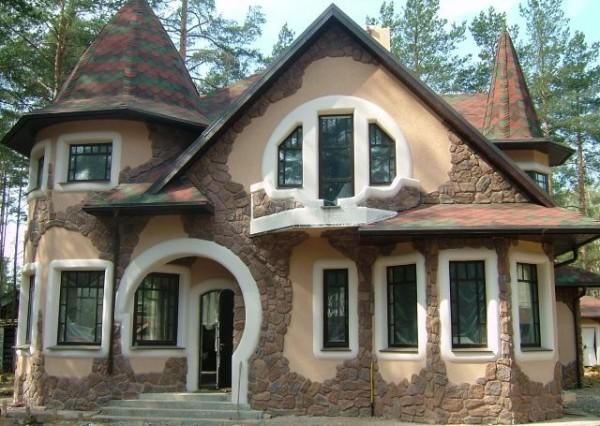 отделка дома камнем