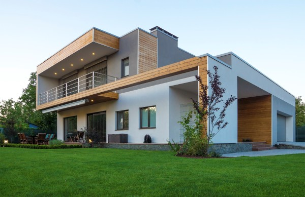 современный дизайн фасада
